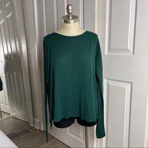 H&M Green Long Sleeve Tunic Top